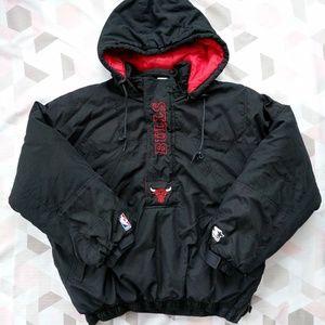 RARE Vintage Starter Chicago Bulls Puffy Jacket XL